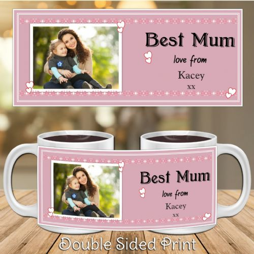 Personalised Best Mum Happy Mothers Day PHOTO Gift Mug N19